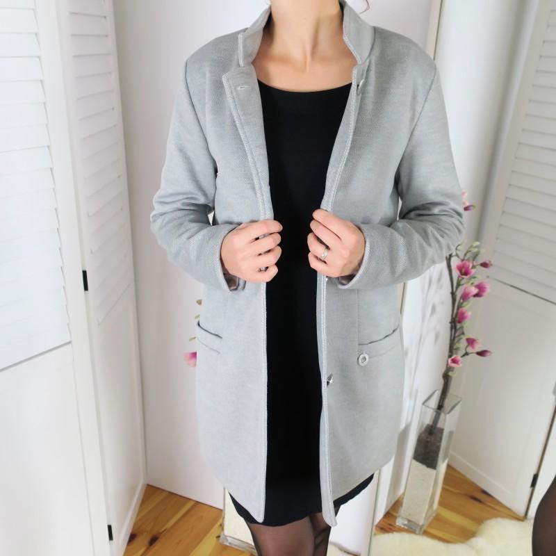 Dámske bundy a kabáty - prechodný dámsky kabát - styl4you  c4e35281ab5