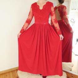 Červené dlhé spoločenské šaty kalina d5910a7cc99